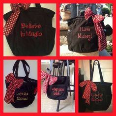 Who doesn't love Mickey& Minnie Mouse ! Super cute retro metro bag ! Personalized to your occasion <3