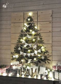 Купить Елка - панно, на стену - бежевый, елка, новогодняя елка, новогодний подарок, елка-панно