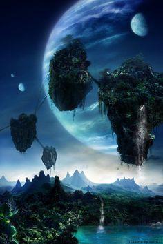 "Avatar"" A spectacular world beyond imagination ❤️❤️❤️ Fantasy Art Landscapes, Fantasy Landscape, Fantasy Artwork, Beautiful Landscapes, Avatar Films, Avatar Movie, Fantasy Places, Fantasy World, Pandora Avatar"