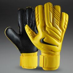 Nike Goalkeeper Gloves - Nike GK Premier SGT - Goalie Gloves - Goalkeeping - Yellow-Yellow-Black