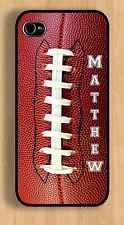 PERSONALIZED APPLE IPHONE 4 4s or 5 5s 6 FOOTBALL CASE
