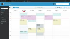 I don't like the way overlapped events are handled with the indentation. Google Calendar does the same thing.
