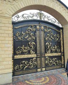 ХУДОЖЕСТВЕННАЯ КОВКА 8 928 877 66 00 - Photo from album Gate Wall Design, Grill Gate Design, House Main Gates Design, House Window Design, Steel Gate Design, Front Gate Design, Door Design, Metal Gates, Wrought Iron Gates