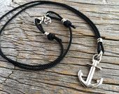 Nautical anchor necklace - Maris Sal waterproof rope necklace - Anchored