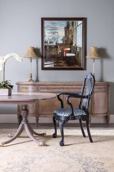 Egg and dart molding at base of splat. Dining Set, Dining Chairs, Sculpted Arms, Winterthur, Teak Table, Queen Anne, Armchairs, Side Chairs, Philadelphia