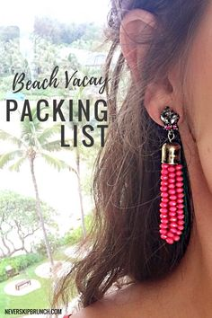 Beach Vacation Packing List | What to pack for summer vacation | What to bring to the beach | Packing guide | Oahu, Hawaii beach vacation | North Shore