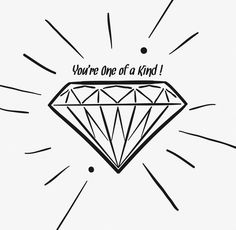 """A """"just because"""" card from our hearts to yours!     - http://www.eventure.com   #eventure #handdrawn #design #diamond"""