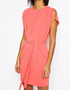ASOS | ASOS Belted Mini Dress with Split Cap Sleeve and Pencil Skirt at ASOS