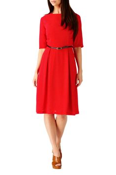 Nancy Polka Print Dress  Red/White  £44.00