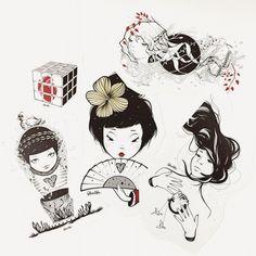 Stickers Pack No.1  https://www.kichink.com/stores/celenenajera