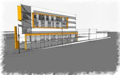 Side view Building Concept, Condo, Multi Story Building, Floor Plans, Side View, Architecture, Inspiration, Home, Arquitetura