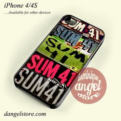 Sum 41 Phone case for iPhone 4/4s and another iPhone devices