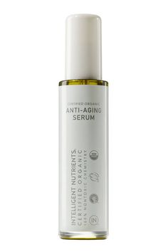 When it comes to reducing the signs of aging, you want immediate gratification that lasts. Is such a thing possible? Intelligent Nutrients Certified Organic Anti-Aging Serum is made with more than a dozen oils—including safflower, argan, and acai—but is still ultralight and absorbs quickly into the skin with no oily residue.