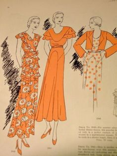 Vogue Pattern Book, June-July 1932 featuring Vogue 5948, 5961 and 5949