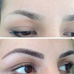 perfect-eyebrows-made-easy-with-semi-permanent-make-up - More Beautiful Me 1 Mircoblading Eyebrows, Tweezing Eyebrows, Permanent Makeup Eyebrows, Threading Eyebrows, Eyebrow Makeup, Eye Brows, Thick Eyebrows, Eyelashes, Beauty Makeup