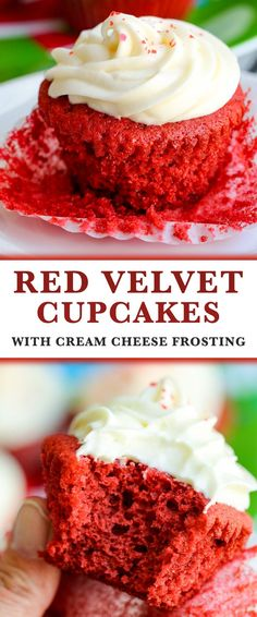 Red Velvet Cupcakes with Cream Cheese Frosting, moist and flavourful cake paired with the best cream cheese frosting. It's a classic and rich dessert recipe