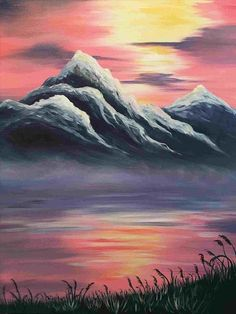 Painting ideas easy easy landscape art simple acrylic canvas painting ideas for beginners easy landscape artists . Easy Canvas Painting, Simple Acrylic Paintings, Acrylic Canvas, Canvas Art, Sunset Acrylic Painting, Watercolor Paintings, Sunset Paintings, Canvas Ideas, Beach Canvas