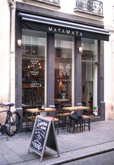 Matamata, 58 rue d Argout, 75002 Paris, France Decoration Restaurant, Deco Restaurant, Restaurant Branding, Restaurant Design, Bakery Design, Cafe Design, Store Design, Design Lab, Cafe Interior