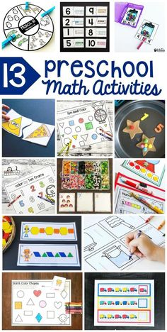 Preschool math activities are a fun way to teach your toddler math. Incorporate preschool math activities into your homeschool curriculum planning. Learning activities for toddlers should be fun and these printable math activities can do that. #math #mathactivities #preschoolmath #preschoolactivities #preschool #printablelearningprintables #printablesforkids