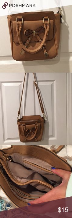 Cross body bag Brown faux leather cross body bag...no stains! Like new condition! Bags Crossbody Bags