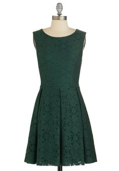 Happily Emerald After Dress. Theres one thing thats sure to last a lifetime - your unique style - so zip into this deep emerald-green dress and look toward a bright future! #green #modcloth