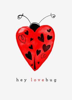 Margaret Berg Art: Hey+Lovebug+Ladybug