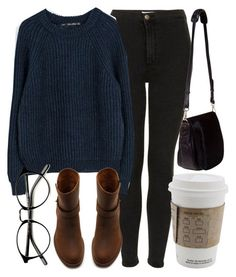 """""""Untitled #4249"""" by laurenmboot ❤ liked on Polyvore featuring Topshop, Zara, Madewell and Nomadic"""