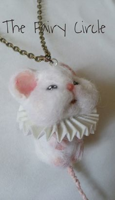 necklace with mouse - ooak