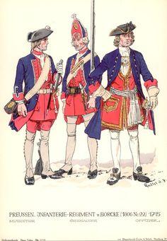 Knötel-Tafel 20/14  . Infanterie-Regiment v. Borcke (1806 Nr. 22) 1715.