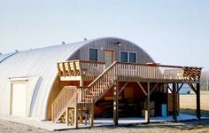 The second story porch is a great idea! quonset with wrap around porch - Google Search