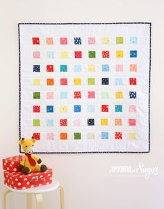 Crayon box baby quilt free pattern quilts for baby рукоделие Baby Quilt Tutorials, Baby Quilt Patterns, Quilting Tutorials, Quilting Projects, Sewing Tutorials, Quilting Ideas, Sewing Projects, Quilting Patterns, Hand Quilting