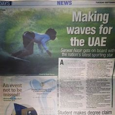 9/30/14 Mohammed Rahma becomes first Emirati surfer to participate in ISA World Surfing Championship to be held in October 2014 PHOTO: mo_rahma