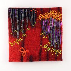 Large photo of Turning Trails 3 Jo Wood, Mardi Gras Beads, Large Photos, Bead Art, Bead Crafts, Beaded Embroidery, Turning, Stitches, Woods