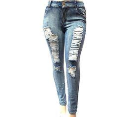1290336d9f3 online shopping for Jack JEANS Jack David Womens Plus Size Acid Wash  Distressed Ripped Blue Skinny Denim Jeans Pants from top store.