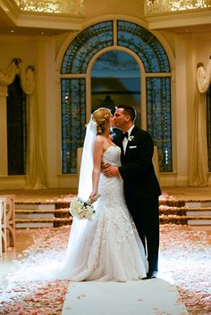 Laura and Jordan tied the knot with a sprinkle of classic fairy tale at Disney's Wedding Pavilion