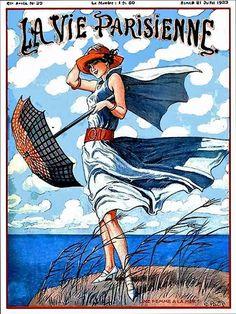 La Vie Parisienne Une Femme A La Mer July 21, 1923 George Pavis
