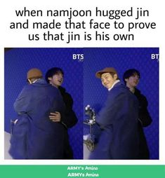 I don't even ship Namjin that much (although it is my favourite ship) Joonie looks sooo cute in this pic Namjin, Jikook, Park Ji Min, Bts Jin, Bts Bangtan Boy, Jung Kook, Bts Memes Hilarious, Memes In Real Life, Seokjin