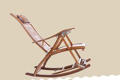 La silla mecedora sacudió la silla de madera de bambú y con la protección del…