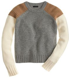 Collection cashmere sweater in colorblock