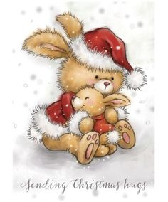 VB Wild Rose Studio Clear Stamp Christmas Bunny Source by sschelonke Christmas Bunny, Christmas Animals, Christmas Pictures, Christmas Art, Vintage Christmas, Christmas Decorations, Christmas Graphics, Christmas Clipart, Christmas Printables