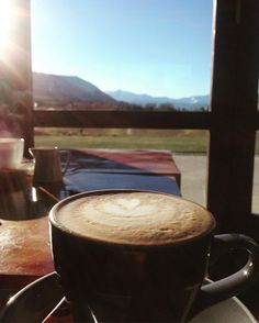 Coffee and mountains. Life is good. #coffee #mountains #Queenstown #newzealand