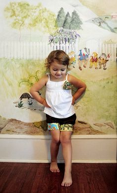 cute little girl bloomer inspired play shorts tutorial