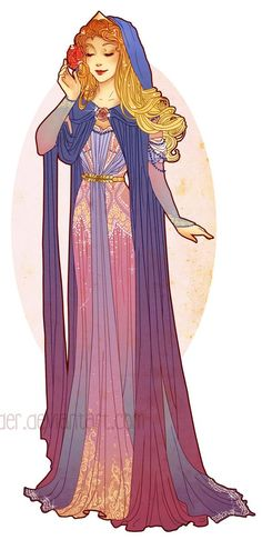 Art Nouveau Costume Designs V - Princess Aurora by Hannah Alexander