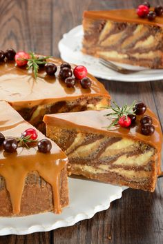 Christmas cheesecake of a thousand flavors- Świąteczny sernik tysiąca smaków Christmas cheesecake, cake for the holidays - Baking Recipes, Cake Recipes, Christmas Cheesecake, Crazy Cakes, Food Cakes, The Best, Delicious Desserts, Good Food, Food And Drink