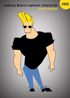 Free Johnny Bravo Vector Character download