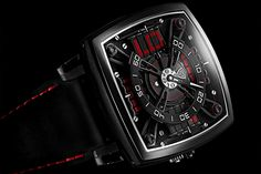 MCT Sequential One S110 - Titanium DLC with red indexes and sapphire glass in the middle of the case