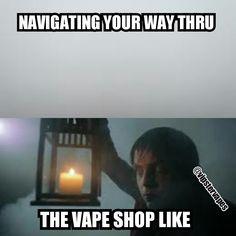 Navigating your way through the #vapeshop