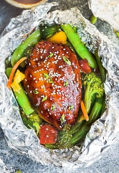 These teriyaki chicken foil packets are a crowd favorite—theyre sweet, savory, and most importantly, arent loaded with insane amounts of sodium. Theyre packed with Asian-glazed chicken, broccoli, bell peppers, pineapple, edamame, and green beans. If you have the extra few minutes, definitely shoot for making the teriyaki from scratch so you know exactly whats going into your sauce. You might as well toss your Chinese take-out menus for good.