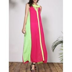 Free shipping 2018 Stylish Round Collar Sleeveless Cut Out Color Block Women's Dress ROSE M under $10.36 in Maxi Dresses online store. Best Open Back Dresses and Low Cut Bodycon Dress for sale at Dresslily.com.