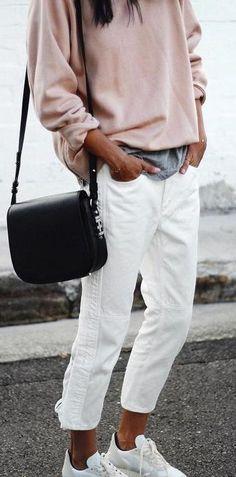 white boyfriend jeans.